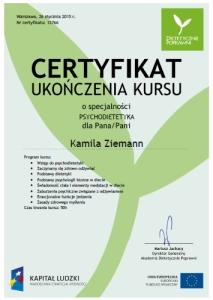 psychodietetyka certyfikat